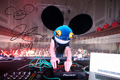 Deadmau5 Photo Print Poster Pre Signed - 12 X 8 Inch  A+ Quality - While (1<2)