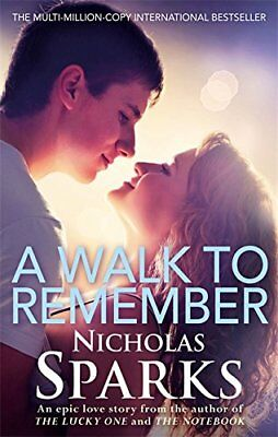 A Walk to Remember New Paperback Book Nicholas Sparks