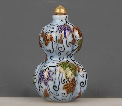 Chinese Exquisite Handmade gourd pattern porcelain snuff bottle