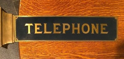 Western Electric Telephone Sign Phone Booth Single Sided with  Metal Flange
