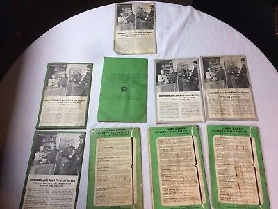 Lot of 9 Vintage John Deere Manuals Dealer Copy tractor farm owner equipment old