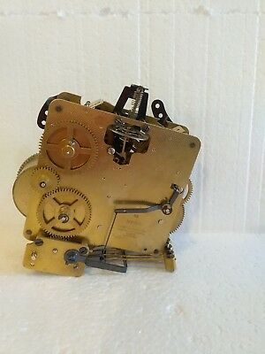 Vintage Elgin Clock Movement Made in Germany 2 Jewels For Parts or Repair