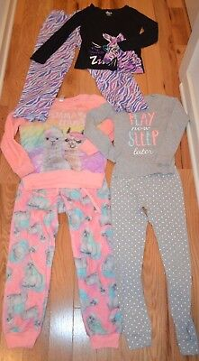 3 Sets Girls Winter Pajamas PJs Size 7/8 8