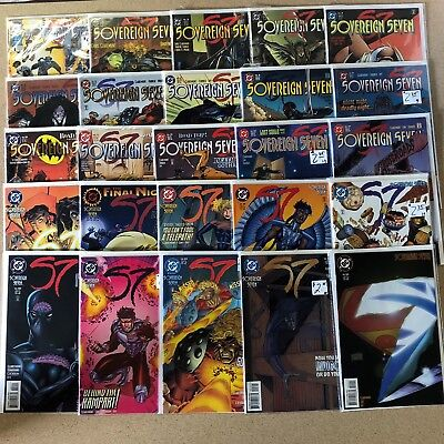 Sovereign Seven Comics Huge Lot 25 Comic Book Collection Set Run Books Box 1