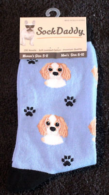 Cavalier King Charles Dog Breed Lightweight Stretch Cotton Adult Socks