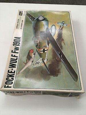 Vintage Hasegawa Focke Wulf Fw190a 1/32 Scale German Fighter Deluxe Series Japan