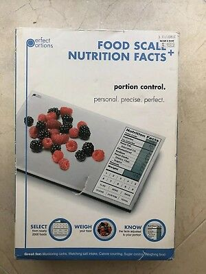 Perfect Portions Digital Food Scale Precise Kitchen Weigh & Nutrition Facts