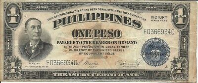 PHIlLIPPINES  1 peso 1944 Victory pick #94