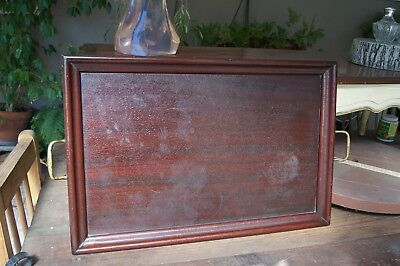 Antique Large Mahogany & Brass Butler's Serving Tray
