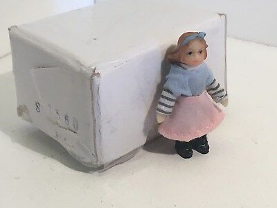 "Vintage Dollhouse Miniatures 1 ¾"" Tall Standing Porcelain Doll #2"