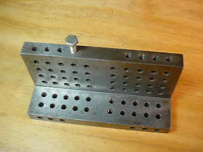 Custom Angle Plate 86 Holes  Made in America Vintage  Machinist Tool
