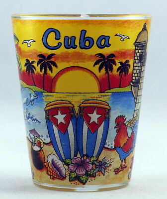 Cuba Sunset Glass Shotglass