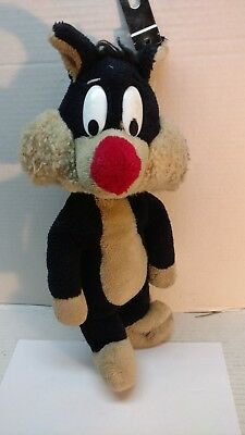 "Vintage 1969 Mighty Star Sylvester The Cat 16"" Plush Doll"