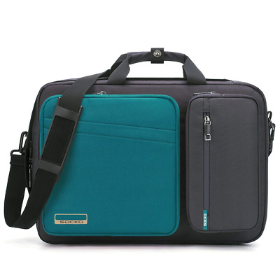 Convertible Laptop Bag Backpack,SOCKO Multi-functional Water Resistant Messenger