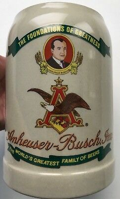 Vtg. Anheuser-Busch Budweiser Stein ©1989 Made in Germany 3rd in a series of 5