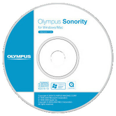 OLYMPUS Sonority & DSS Player Upgrade CD-ROM Audio Management Software