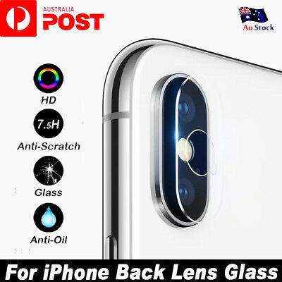 Apple iPhone XS Max XR XS X 7 8 Plus Camera Lens Tempered Glass Screen Protector