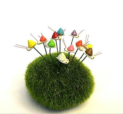 5Pc. Snail Mix-Color Terrarium Miniature Dollhouse Fairy Garden Accessories DIY