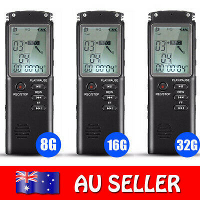 8G/16G/32G Digital Voice Recorder 60 Hours Super Long Voice Recording MP3 Player
