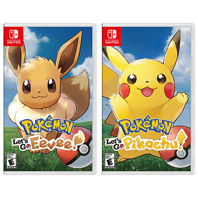 Nintendo Switch Pokemon Let's Go, Eevee! and Let's Go, Pikachu! Bundle