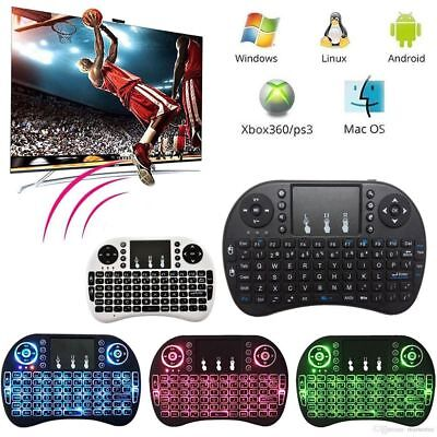 Remote Control Wireless Keyboard Backlit Touchpad For PC Laptop Android TV Box
