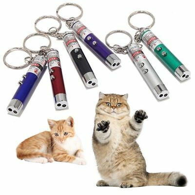 2-in-1 Stylish Lazer Pen Pointer Keychain Keyring With torch Cat Best Toy Simple