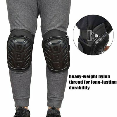 1 Pair Professional Heavy Duty Work Knee Pads Adjustable Safe Gel Cushion JU