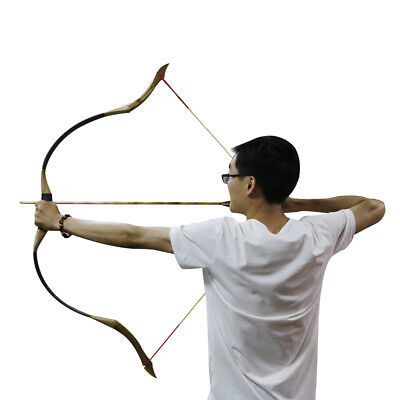 35lbs Outdoor Archery Traditional Recurve Bow Horse Bow Longbow Archery Hunting