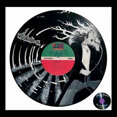 Led Zeppelin * Xmas Gift * Hand Painted Vinyl Record Art * Limited Edition