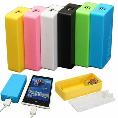 USB 2X 18650 Power Bank Protector Battery Case External Charger DIY Shell