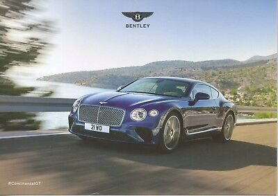 Bentley Continental GT car (made in GB) _IAA Frankfurt 2017 Prospekt / Brochure