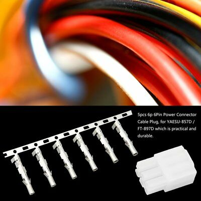5pcs 6p 6Pin Power Connector Cable Plug For YAESU-857D / FT-897D GE