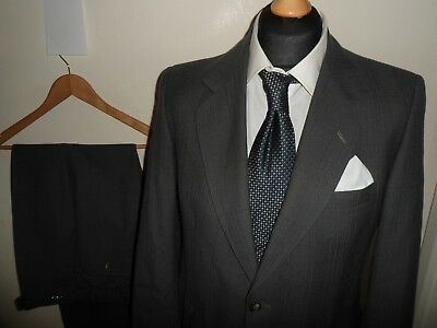 VGC* Mens MAGEE Suit 2 Piece Pure Wool Single Breasted Grey SIZE 40R W36 L31
