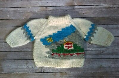 Olympic Handknitted Wool Sweater Grigoropoulos Petros Greece Boys 12 Months