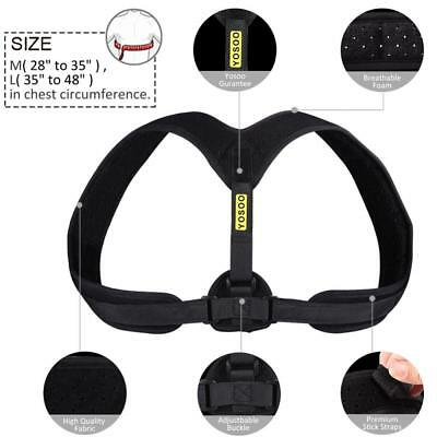 Posture Clavicle Support Corrector Back Straight Shoulders Brace Strap Correct~