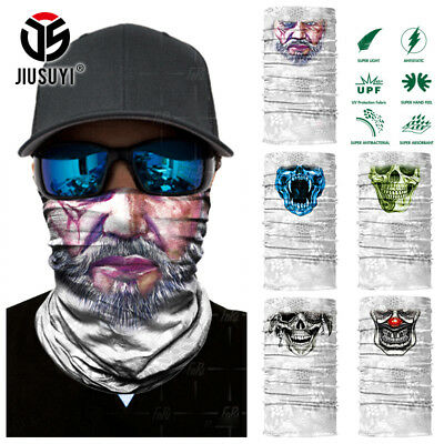 White Neck Gaiter Scarf Outdoor Face Mask Bandana Balaclava Headwear Cycling Ski