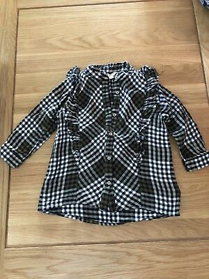 Gorgeous!! River Island Baby Girl 18-24 Month Checked Shirt - Only Worn Once