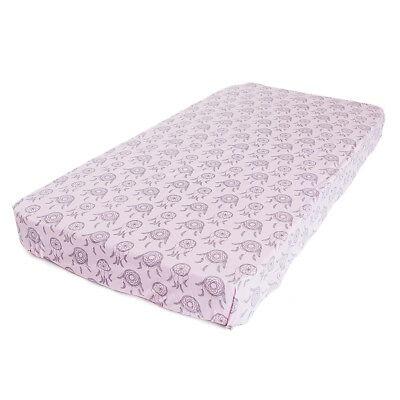 Bambella Designs Fitted Cot Sheet- Pink Dreamcatchers