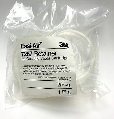 3M Easi-Air #7287 Retainer-Gas and Vapor Cartridge - 2 per package BRAND NEW