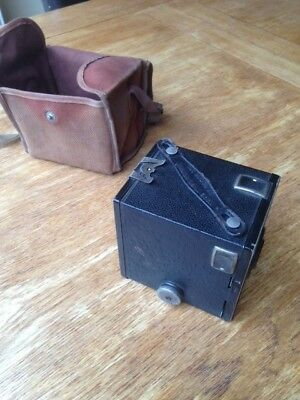 Vintage Brownie Junior Six 16 Box Camera with Case And Instructions