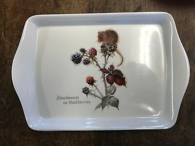 New Woodmouse On Blackberries Small Sandwich Tray Leonardo Gift Christmas