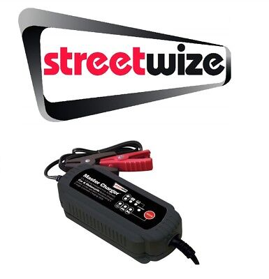 Streetwize Intelligent 12v 3.8 Amp Battery Charger Free Tracked Delivery SWIBC5
