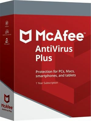 Mcafee Antivirus Plus 2018 Unlimited Devices 1 Year-Pc Mac Android Ios Iphone