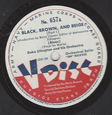 V-Disc No. 657 : Duke Ellington Orchestra : Black, Brown and Beige