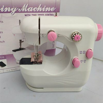 Mini Electric Sewing Machine Double Thread Two Speed Crafting Mending Machine N2