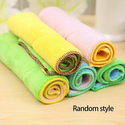 Ultra-Fine Fiber Double-Sided Absorbent Rag Color Random Daily Supplies N2