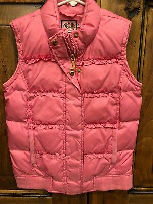 Juicy Couture Girls Pink Puffer Vest Size 12