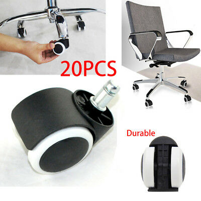 """2"""" Office Home Chair Caster Wheel Protect Caster Swivel Rubber for Wooden Floor"""