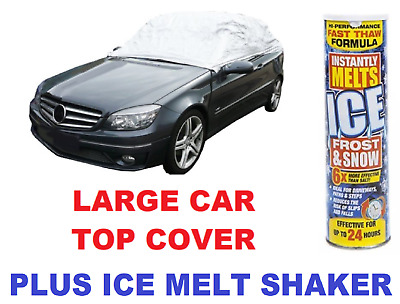 AUTO 1 Car Top Cover Frost Protector - LARGE & Ice Melt Shaker