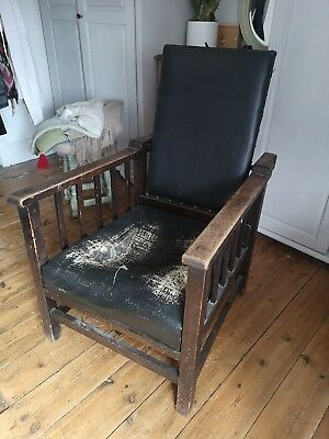 Antique furniture Chair with folder back